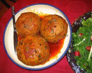 مواد لازم برای پخت 3 عدد کوفته تبریزی